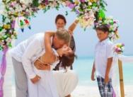Hochzeit in der Dominikanischen Republik, Cap Cana. {Zhenja, Irina und ihr Sohn Akim}