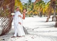 Huwelijk in Tracadero-strandclub, Dominicaanse Republiek
