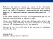 De openingsdata voor bedrijven in de toeristische sector
