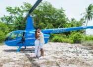 Heiratsantrag, Helikopterflug zur Insel Saona